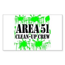 Area 51 Clean-Up Crew Rectangle Decal