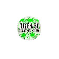 Area 51 Clean-Up Crew Mini Button