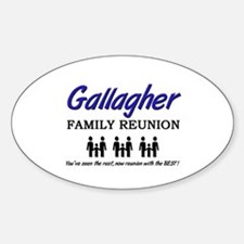 Gallagher Family Reunion Oval Decal