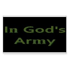 In Gods Army Decal