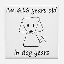 88 dog years 6 - 2 Tile Coaster