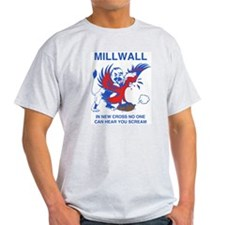 Millwall Scream Ash Grey T-Shirt