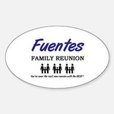 Fuentes Family Reunion Oval Decal