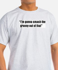 smash the granny Ash Grey T-Shirt
