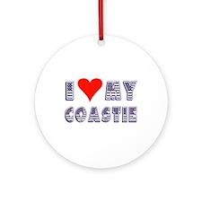 I Love My Coastie Ornament