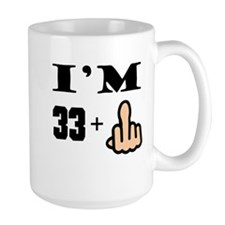 Middle Finger 34th Birthday Mugs