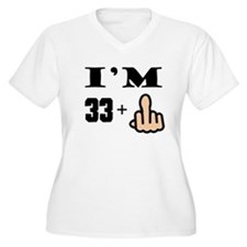 Middle Finger 34th Birthday Plus Size T-Shirt