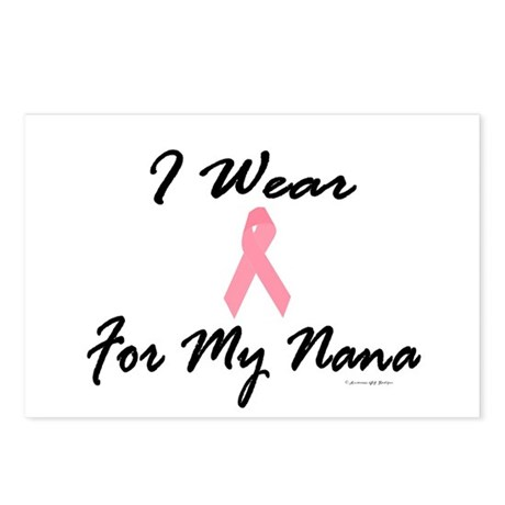 I Wear Pink For My Nana 1 Postcards (Package of 8)