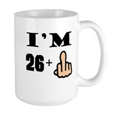 Middle Finger 27th Birthday Mugs