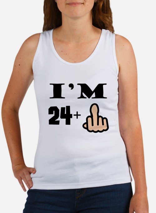 Middle Finger 25th Birthday Tank Top