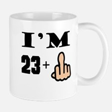 Middle Finger 24th Birthday Mugs