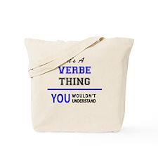 Unique Verb Tote Bag