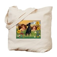 Angels & Min Pinscher Tote Bag