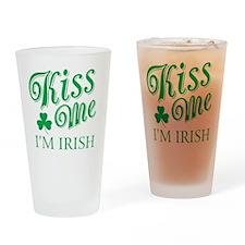 Kiss Me I'm Irish Drinking Glass