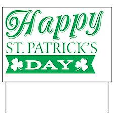 Happy St. Patrick's Day Yard Sign
