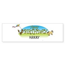 Happy B-Day Harry (farm) Bumper Bumper Sticker