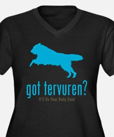 Belgian Tervuren Women's Plus Size V-Neck Dark T-S