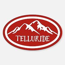 Telluride Mountain Sticker (Oval)