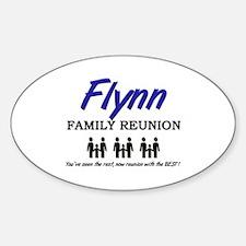 Flynn Family Reunion Oval Decal