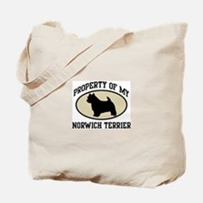 Property of Norwich Terrier Tote Bag