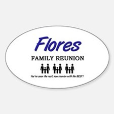 Flores Family Reunion Oval Decal