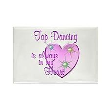 Tap Dancing Heart Rectangle Magnet (10 pack)