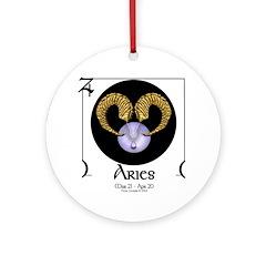 Aries Light Ornament (Round)
