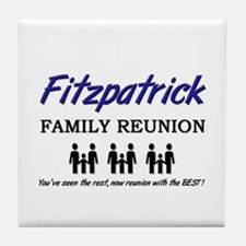 Fitzpatrick Family Reunion Tile Coaster