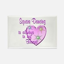 Square Dancing Heart Rectangle Magnet
