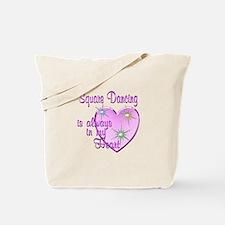 Square Dancing Heart Tote Bag