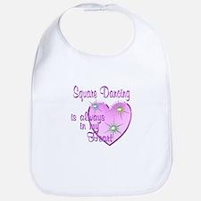 Square Dancing Heart Bib