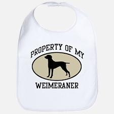 Property of Weimeraner Bib