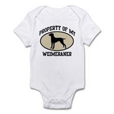 Property of Weimeraner Infant Bodysuit