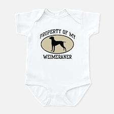 Property of Weimeraner Infant Bodysuit
