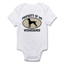 Property of Weimeraner Onesie