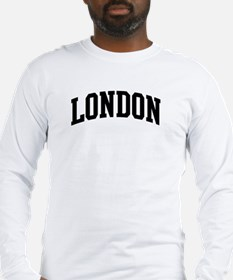 LONDON (curve-black) Long Sleeve T-Shirt