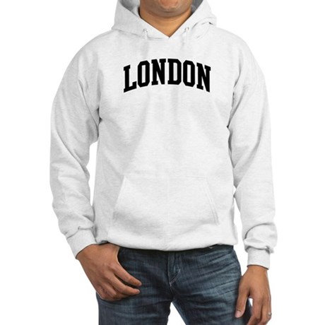 LONDON (curve-black) Hooded Sweatshirt