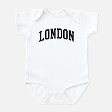 LONDON (curve-black) Infant Bodysuit