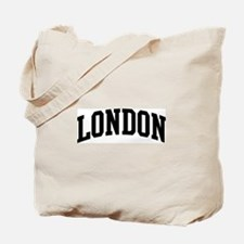 LONDON (curve-black) Tote Bag
