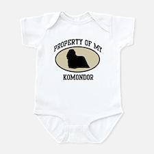 Property of Komondor Infant Bodysuit