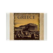 Unique Greece parthenon Rectangle Magnet