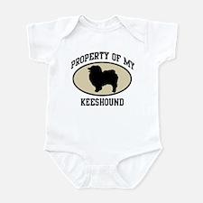 Property of Keeshound Infant Bodysuit