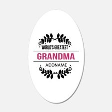 World's Greatest Grandma Cus Wall Decal