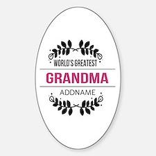 World's Greatest Grandma Custom Nam Decal