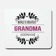 World's Greatest Grandma Custom Name Mousepad