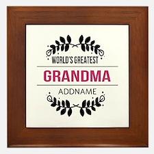 World's Greatest Grandma Custom Name Framed Tile