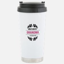 World's Greatest Grandm Stainless Steel Travel Mug