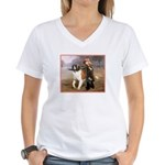 ST. BERNARD Women's V-Neck T-Shirt