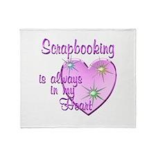 Scrapbooking Heart Throw Blanket