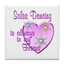Salsa Heart Tile Coaster